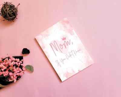 keepsake journal for mom in pink