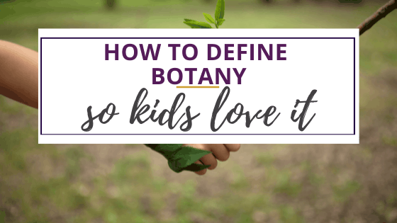 define botany with plants and humans holding hands