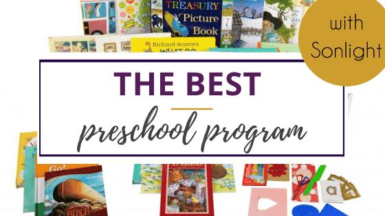 image of books included in Sonlight preschool program