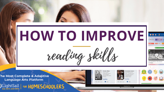 How to improve reading skills using LightSail with company image of books used
