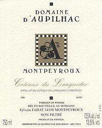 Domaine d'Aupilhac 2005 - Montpeyroux Côteaux du Languedoc