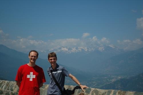 David et Julien dans les Alpes