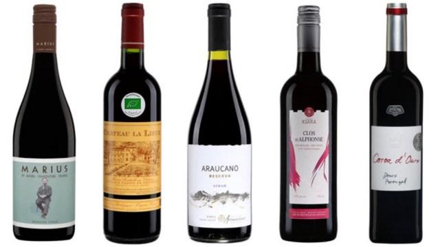 5 vins rouges sous les 15$ (Photos: saq.com)