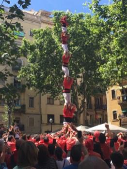 Casteller dans la Barceloneta
