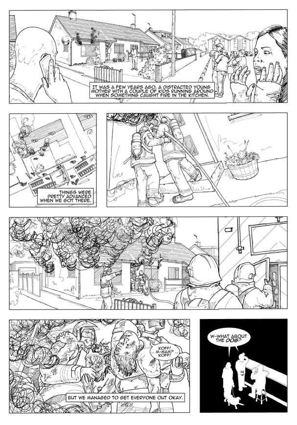 Sample Page from Smoke - a firefighter's tale