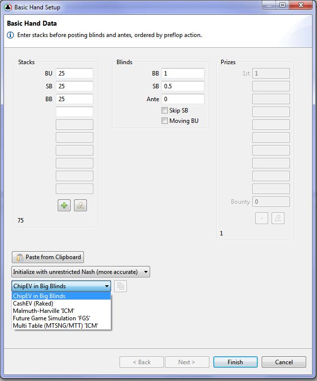 Holdem Ressources Calculator Basic hand