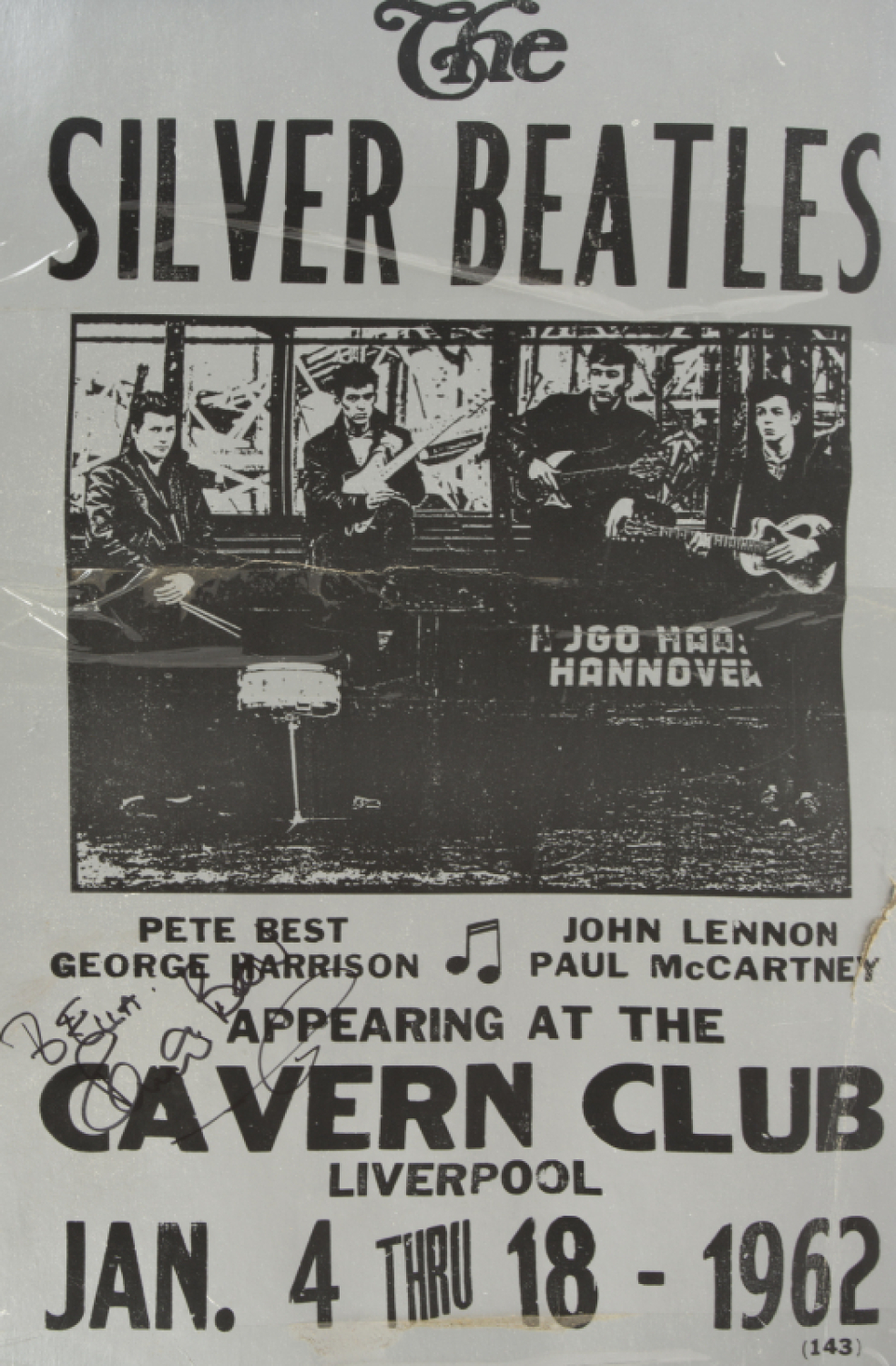 pete best signed beatles reproduction