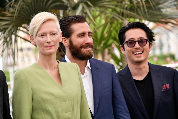 Tilda Swinton, Jake Gyllenhaal, Steven Yeun - Cannes 2017