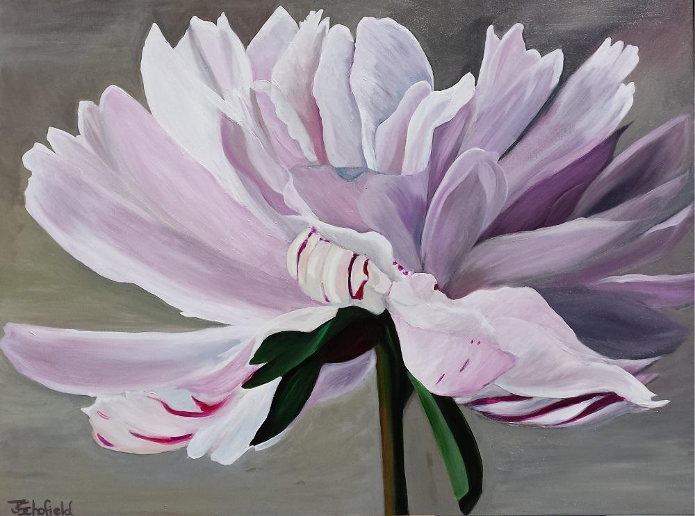 ©Julie Schofield, Drama-Queen-Peony, Acrylic 120 x 90cm
