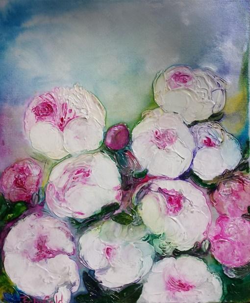 Peonies in spring by Julie Schofield