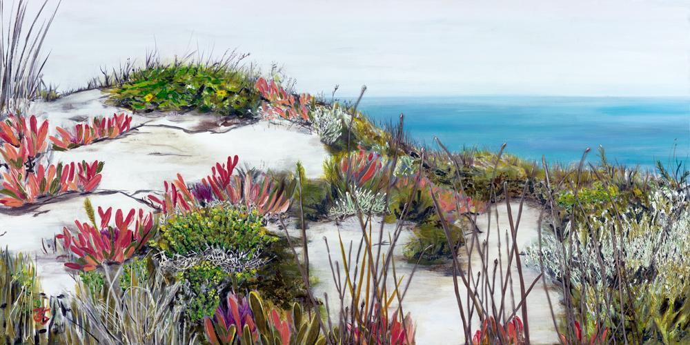 ©Julie Schofield, Island Coastal Colours, Acrylic 122 x 61cm