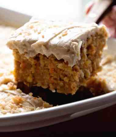 Gooey Cinnamon Carrot Poke Cake + VIDEO