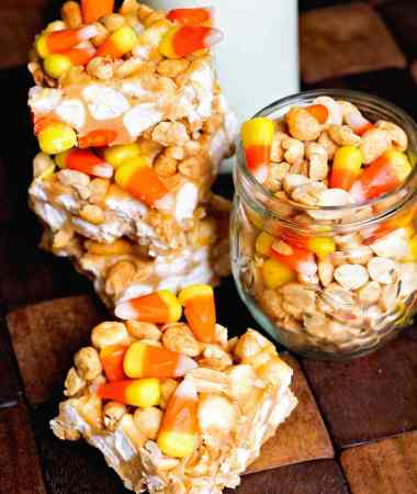 Candy Corn Peanut Bars + VIDEO