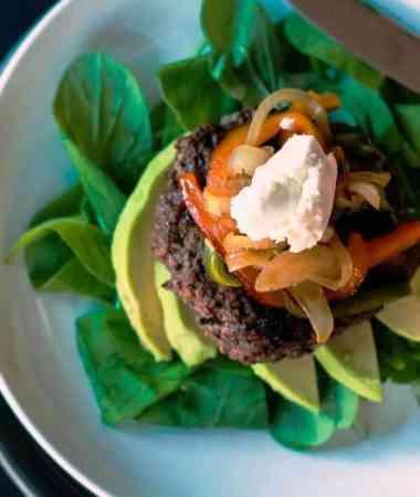 Skinny Southwestern Cheeseburger