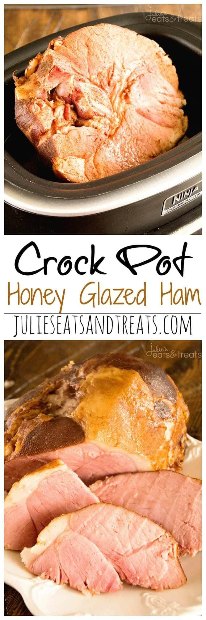 Crock Pot Honey Glazed Ham ~ Easy Ham, Slow Cooked and Smothered in a Honey Glaze!