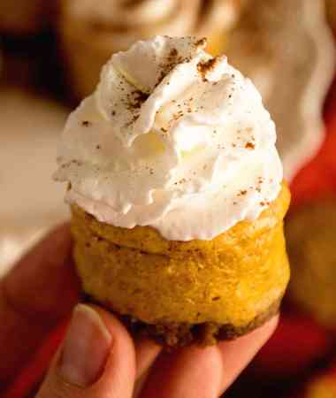 Light Mini Pumpkin Cheesecake Recipe