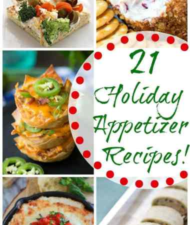 21 Holiday Appetizer Recipes! + Giveaway