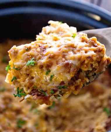 Turkey Crock Pot Breakfast Casserole Recipe