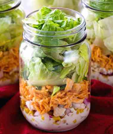 Buffalo Chicken Jar Salad