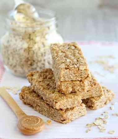 Peanut Butter Honey No Bake Granola Bars