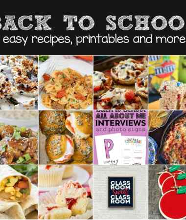 Back to School Menu Ideas!