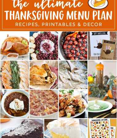 Thanksgiving Menu Planner