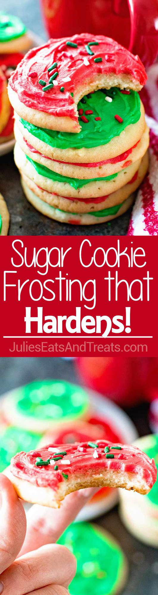 Homemade Sugar Cookie Frosting that Hardens ~ The Perfect Sugar Cookie Frosting for Decorating! If You Are Looking for Frosting For Sugar Cookies that Hardens this is it!