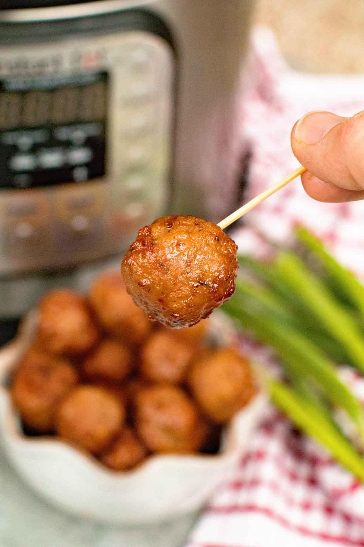 grape jelly meatballs in pressure cooker
