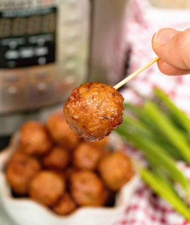 {Instant Pot} Pressure Cooker Grape Jelly Meatballs