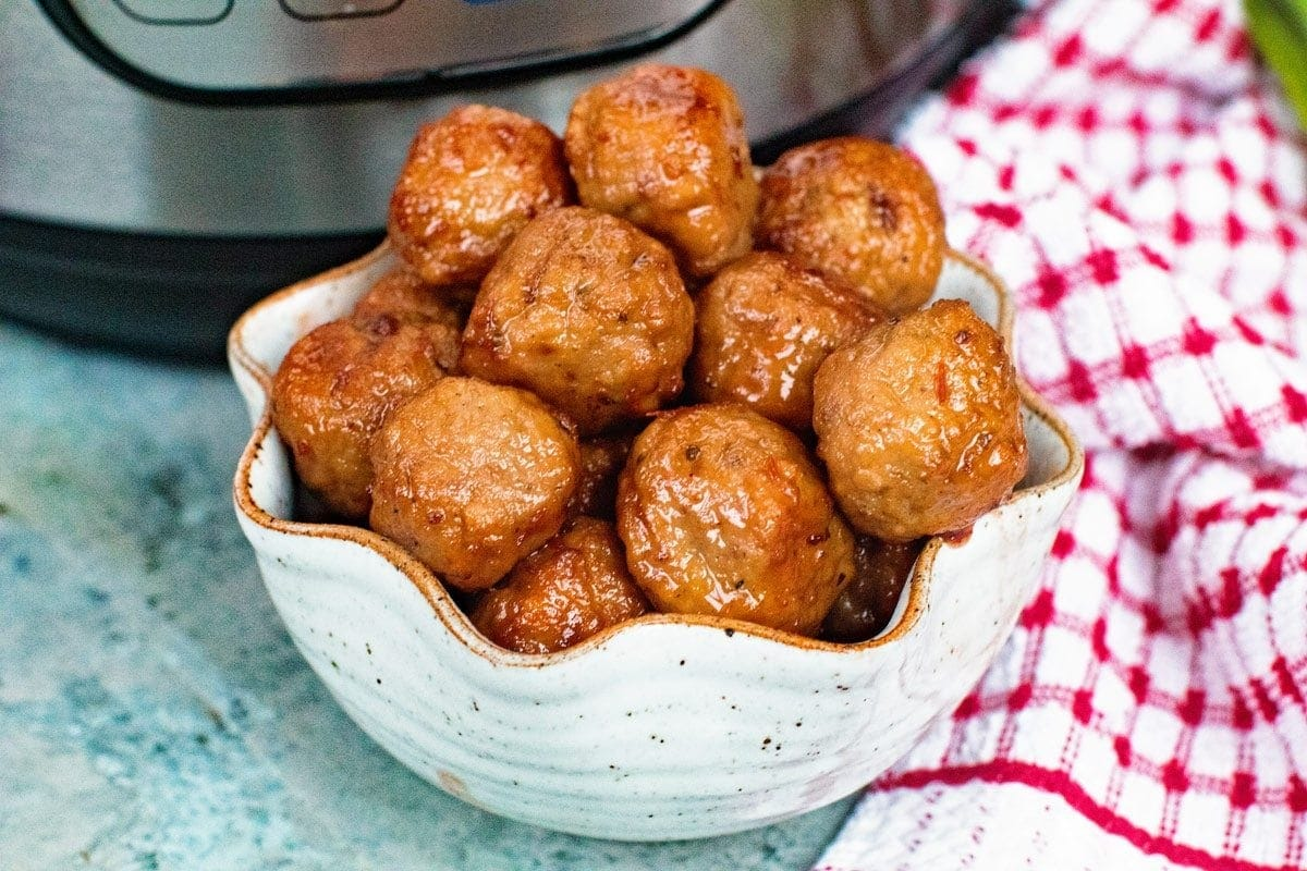 Grape Jelly Meatballs in the Pressure Cooker