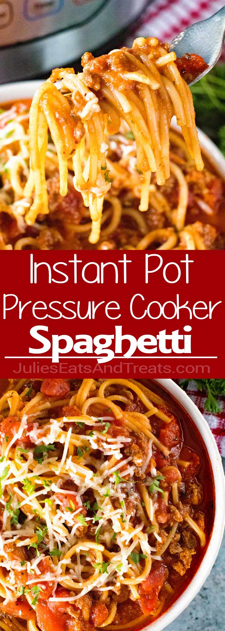 {Instant Pot} Pressure Cooker Spaghetti ~ Quick, Easy Homemade Spaghetti with Meat Sauce Made in Your Pressure Cooker!