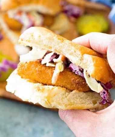 Fish Sandwich Holding