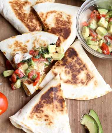 Mexican Breakfast Quesadilla