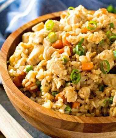 Cauliflower Fried Rice and Chicken
