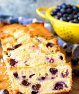 Cream Cheese blueberry bread sliced
