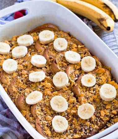 Overnight Pecan Banana French Toast
