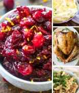 Collage of Thanksgiving recipe images