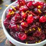 Homemade Cranberry Sauce in white bowl
