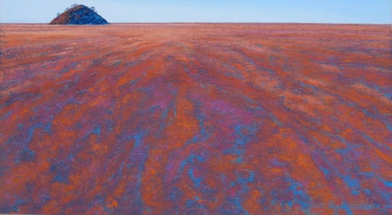 Julie Silvester - Lake Ballard Invite - 71 x 107cm