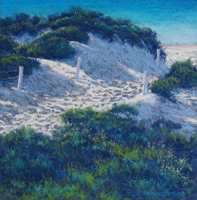 Julie Silvester - Ocean Glimpse - 71 x 71