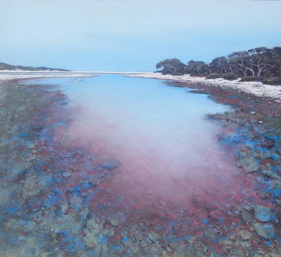 Julie Silvester - Under a Silent Sky - 88cm x 94cm