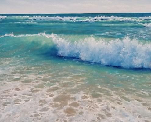 Ocean Dip - 82cm x 82cm
