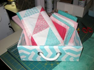 box with fabric