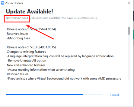 Como actualizar Zoom 5.0