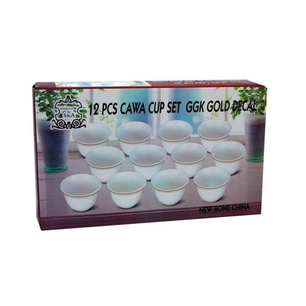 Cawa Cup set - GGK Gold Decal - 12pcs