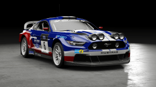Ford Mustang Group B Rally Car
