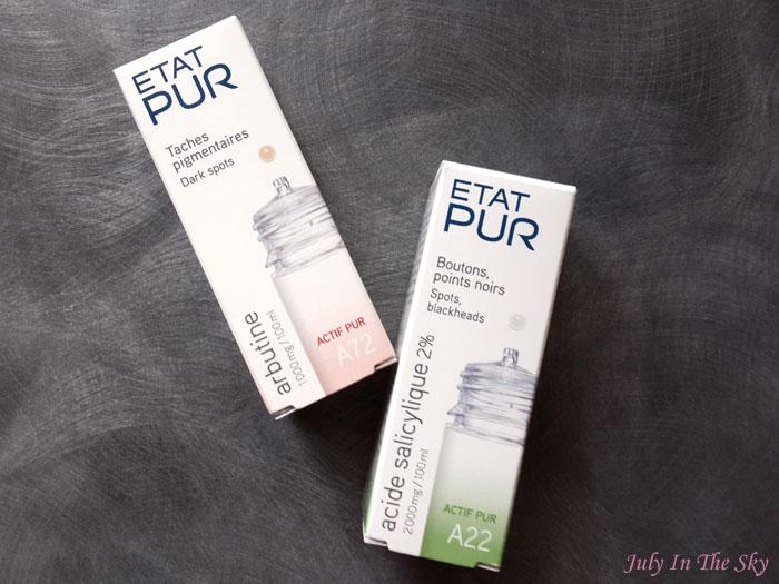blog beauté haul état pur actifs acide salicylique arbutine acné imperfections avis