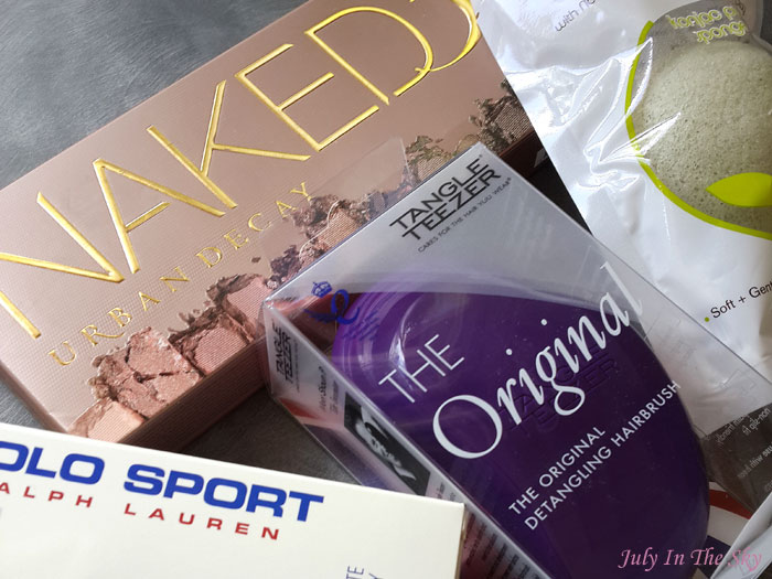 blog beauté haul feelunique naked 3 urban decay brosse tangle teezer éponge konjac polo sport ralph lauren avis