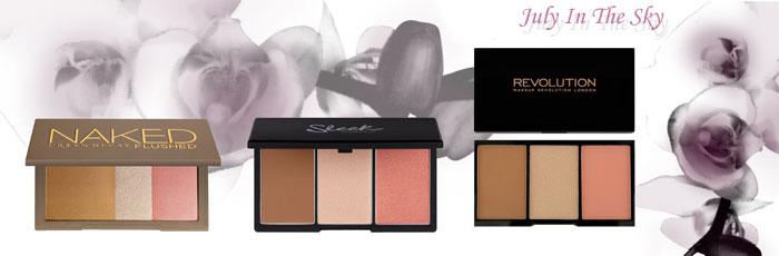 blog beauté Jeu de dupe : Naked Flushed - Urban Decay - Face Form - Sleek Makeup - Iconic Pro Blush, Bronze and Brighten - Makeup Revolution