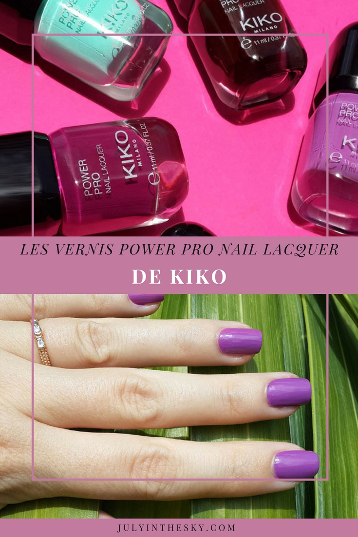 blog beauté vernis kiko power pro nail lacquer iris 18 swatch avis test